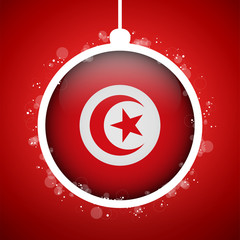 Merry Christmas Red Ball with Flag Turkey