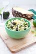 Avocado, pineapple and black beans salad