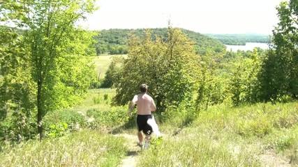 Man Running Down Hill
