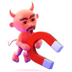 Devil uses his magnet