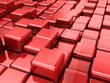 red cubes abstract background