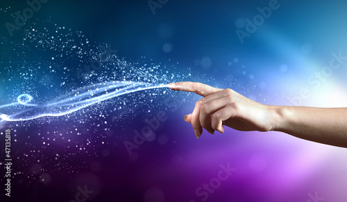 Leinwandbild Motiv magical hands conceptual image