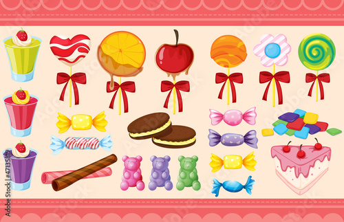 various sweets and wallaper