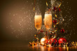 Glasses of champagne at new year party - 47136419