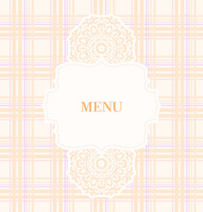Vintage design menu