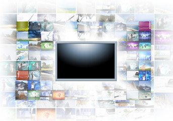 A flat screen television