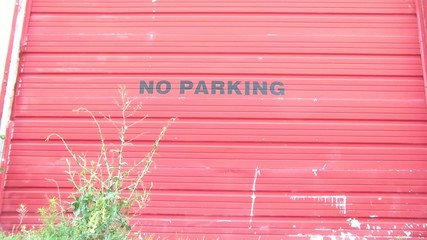 Urban No Parking Sign
