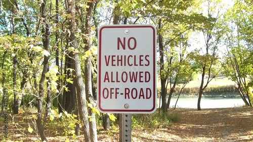 No Vehicles Allowed Sign