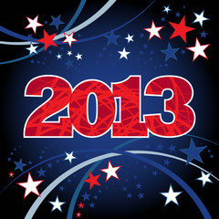 New Year 2013 Red Blue Background