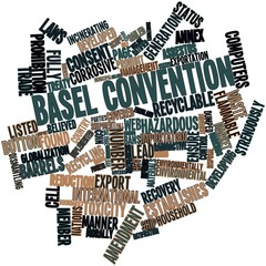 Word cloud for Basel Convention
