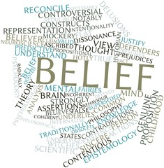 Word cloud for Belief
