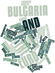 Word cloud for Bulgaria and the euro