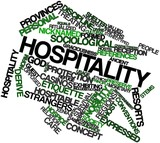 Word cloud for Hospitality
