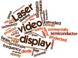 Word cloud for Laser video display