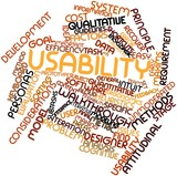 Word cloud for Usability