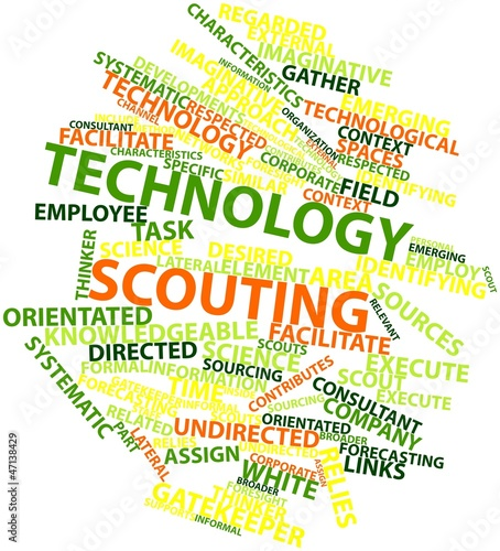 Word cloud for Technology scouting
