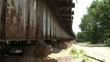 Rusty Railroad Bridge Pan Down
