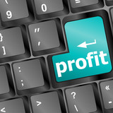 profit button on keyboard - business concept