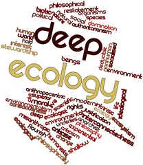 Word cloud for Deep ecology