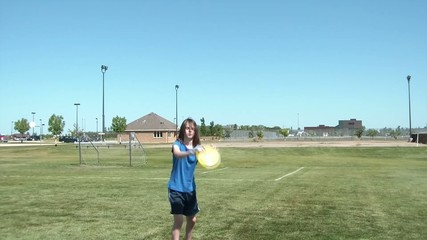 Playing Frisbee with Kid
