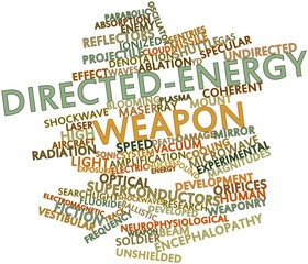 Word cloud for Directed-energy weapon