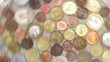 spinning coins symbolizing wealth, richness, income and profit