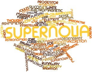 Word cloud for Supernova