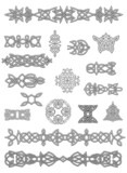 Celtic ornaments and embellishments poster