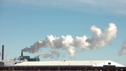 Pollution Emitting with Passing Train