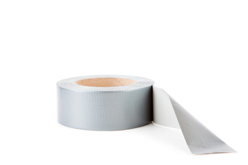 Adhesive tape against a white background