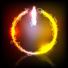 neon power button vector illustration