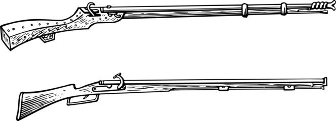Two old hunter's guns