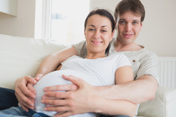 Young couple expecting a newborn