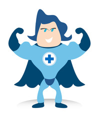 The Bluecross Superhero