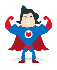 Love Heart Superhero