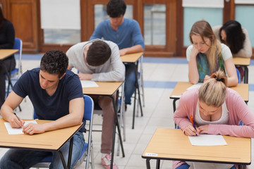 Students sitting a test