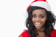 Woman wearing a Santa Claus hat