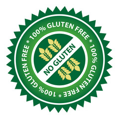 100% Gluten Free Food Label