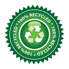 100% Recycled Green Label