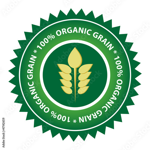 100% Organic Grain Label