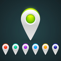 GPS Color Map Icons