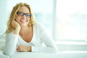 Female in eyeglasses