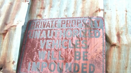 Private Property Rusty Sign