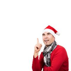 Weihnachtsmann hat eine Idee, isoliert