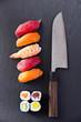 sushi mit Santoku