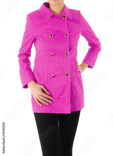 Stylish jacket isolated on model