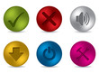 Cool 3d matte button set
