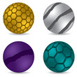 3d matte button set of four