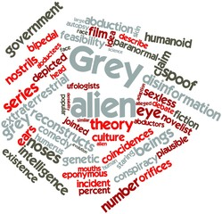 Word cloud for Grey alien