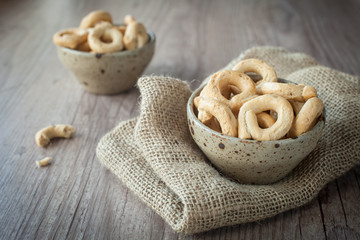 Typical Taralli snacks from south of Italy